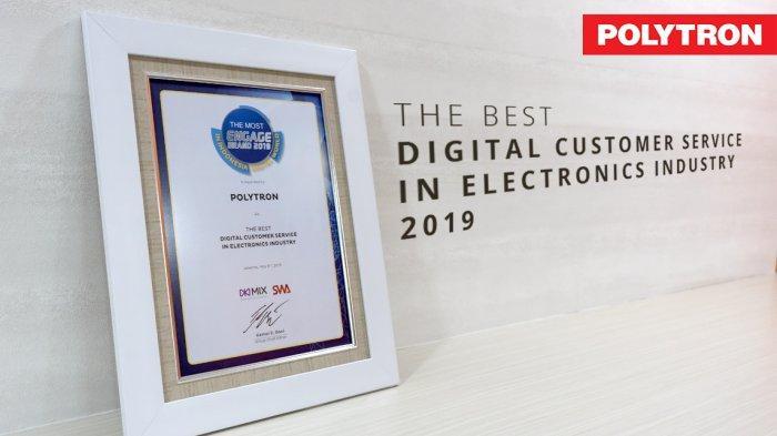 Polytron Raih Penghargaan The Best Digital Customer Service 2019 dari SWA