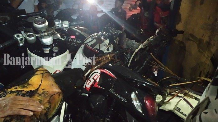 Tiga Motor Terbakar di Banjarmasin, Pemilik Showroom Tak Tahu Penyebabnya