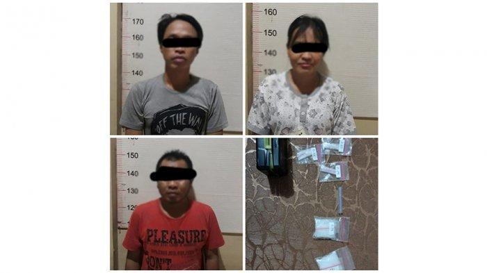 Narkoba Kalsel, Tiga Orang Dibekuk di Kuin Cerucuk, Polsek Banjarmasin Barat Amankan Pasutri