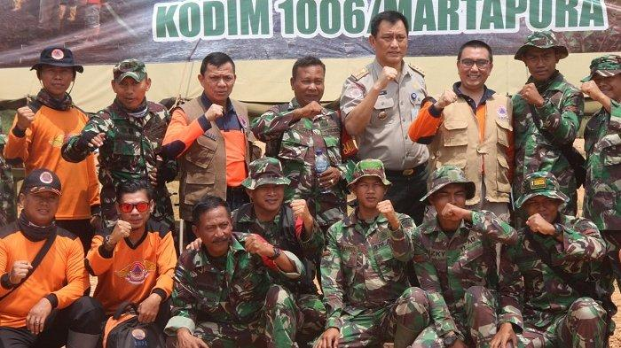 Tim Monitoring Karhutla BNPB Pusat Kunjungi Pos Lapangan Satgas Kodim Martapura