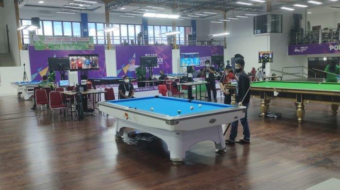 PON XX Papua - Tim Biliar Kalsel Lakukan Adaptasi Arena Pertandingan Sebelum Berlaga