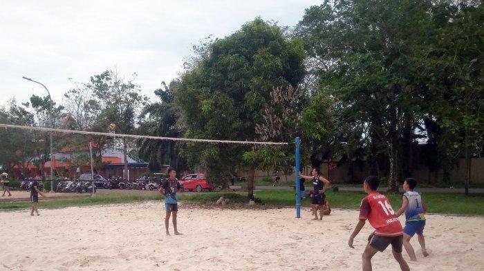 Tim Voli Pasir Kabupaten Balangan Targetkan Empat Besar di Popda Kalsel 2021