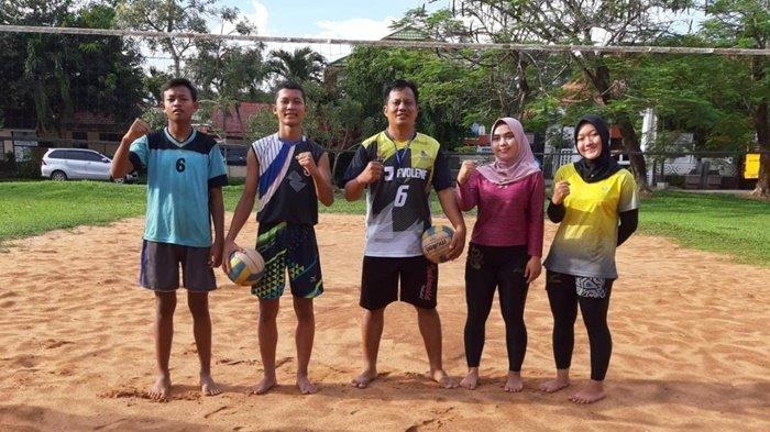 Tim Voli Pasir Banjarbaru Optimis Pertahankan Medali Emas di Popda Kalsel 2021