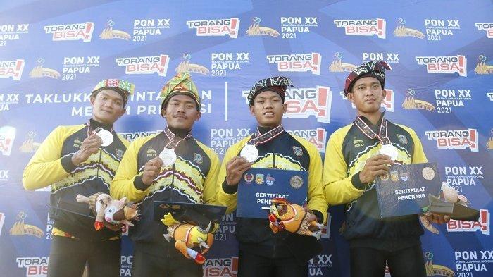 PON XX Papua 2021, Tim Dayung Putra Kayak 4 Jarak 500 Meter Raih Medali Pertama untuk Kalsel