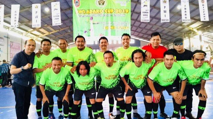 Tekuk Desk Pemko, Tim Desk Polda Kalsel Melaju ke Final Futsal Adaro-PWI Kalsel Cup 2019