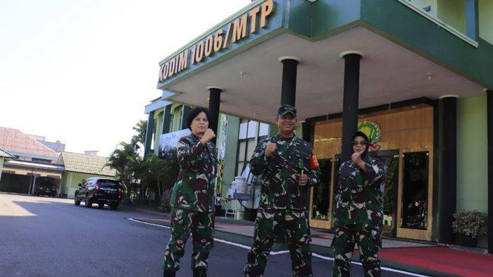 Tim Dinas Penerangan TNI Angkatan Darat Kunjungi Kodim 1006/Martapura Kalsel
