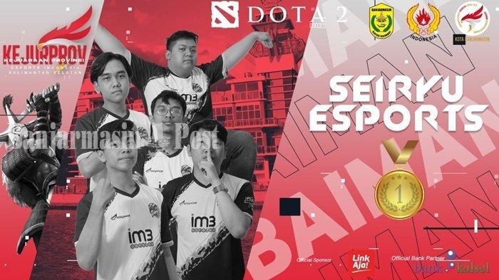 Raih Medali Emas di Nomor Game Dota, ESI Banjarmasin Pimpin Klasemen Kejurprov Kalsel 2021