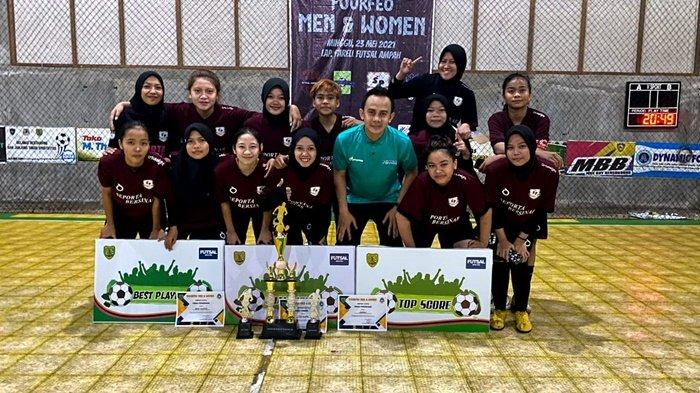 Tim Futsal Seporta Bersinar Kabupaten Tabalong Juarai Fourfeo Women Category di Ampah