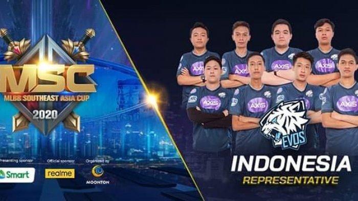 Tim Mobile Legends EVOS, Perwakilan Indonesia di MSC 2020