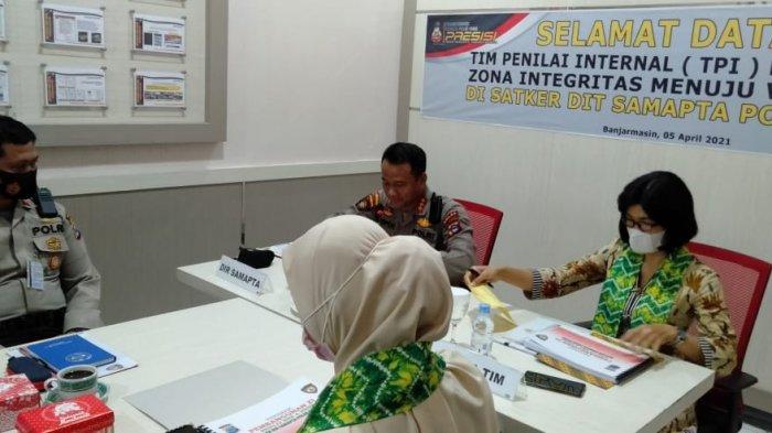 Fokus Bangun Zona Integritas, Dit Samapta Polda Kalsel Jalani Penilaian Awal oleh TPI Mabes Polri
