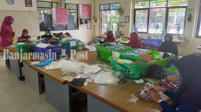 Empat Rumah Sakit Dapat Masker Buatan SMKN 4 dan SMK ISFI Banjarmasin