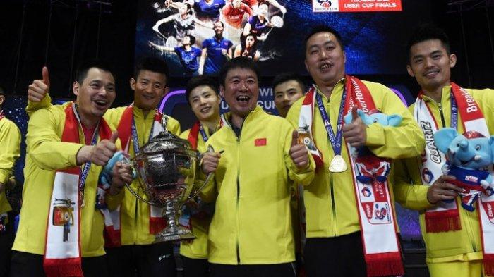 Tanpa Lin Dan Sejak Perempat Final, China Tumbangkan Jepang dan Juara Piala Thomas 2018