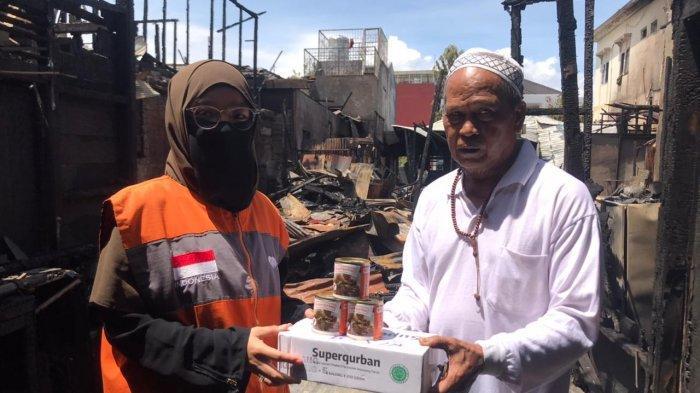 Rumah Zakat Action Salurkan Bantuan Korban Kebakaran di Cempaka Banjarmasin