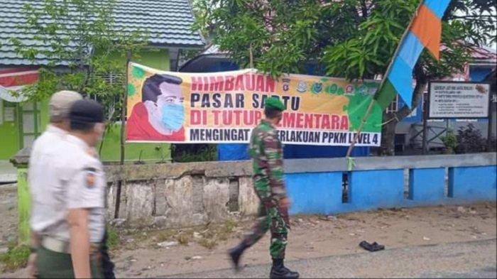Kabupaten Kapuas PPKM Level 4, Tim Satgas Hukum Protokol Kesehatan Cek Aktifitas Pasar Mingguan