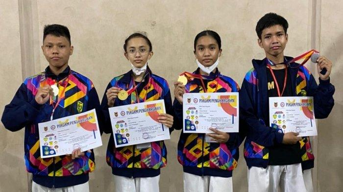 Popda Kalsel 2021, Tim Taekwondo Banjarmasin Raih Tambahan Empat Medali