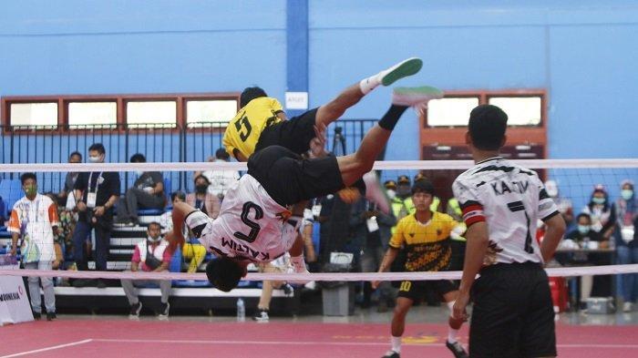 Tim Takraw Kalsel Terhenti di Perempatfinal Nomor Double Event PON XX Papua 2021