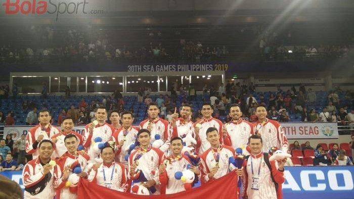 SEA Games 2019 - Tak Terpengaruh Dukungan Besar Publik Filipina, Tim Voli Putra Indonesia Raih Emas