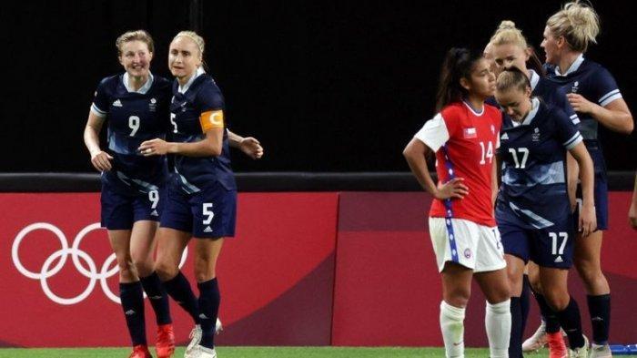 Hasil Olimpiade 2021, Tim Sepak Bola Wanita Britania Raya Kalahkan Chile Lewat 2 Gol Bomber Man City