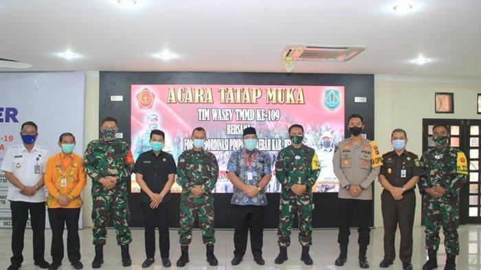 Tim Wasev Mabes TNI AD Tinjau Program TMMD, Pemkab HSU Ucapkan Terima Kasih