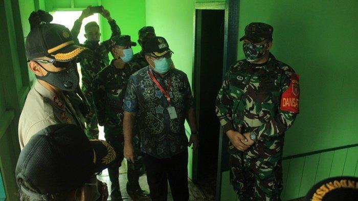 Tim Wasev Mabes TNI AD meninjau program fisik di Kecamatan Danau Panggang, Kabupaten Hulu Sungai Utara (HSU), Provinsi Kalimantan Selatan, Kamis (15/10/2020).