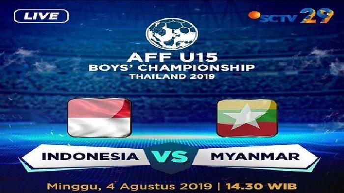 Live SCTV! Live Streaming Timnas U-15 Indonesia vs Myanmar Penentuan Piala AFF U-15 2019