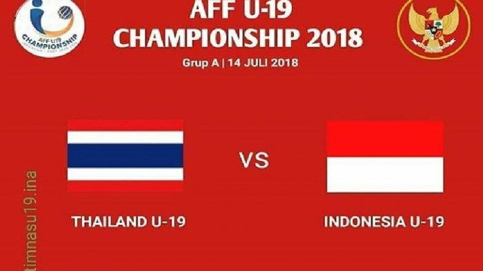 Live Indosiar! Live Streaming Timnas U-19 Indonesia vs Thailand Perebutan Juara 3 Piala AFF U-19