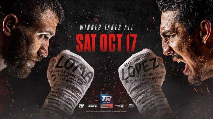 Head to Head & Jadwal Siaran Langsung Tinju Dunia Vasiliy Lomachenko vs Teofimo Lopez Live ESPN