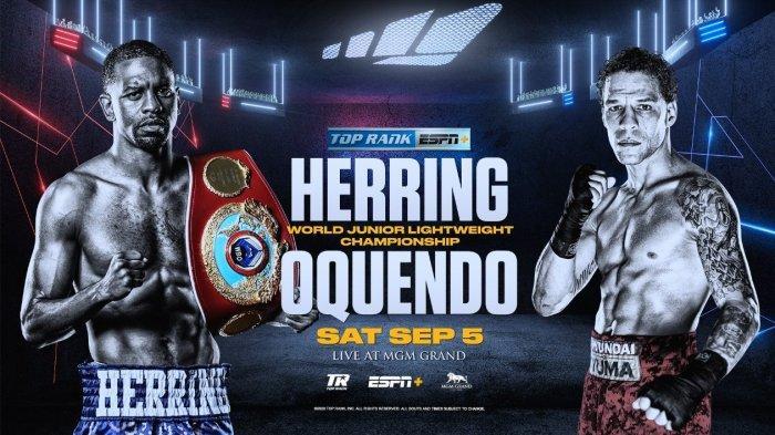 Jadwal Live Streaming TVOne Jamel Herring vs Jonathan Oquendo, Tinju Dunia WBO Super-Featherweight