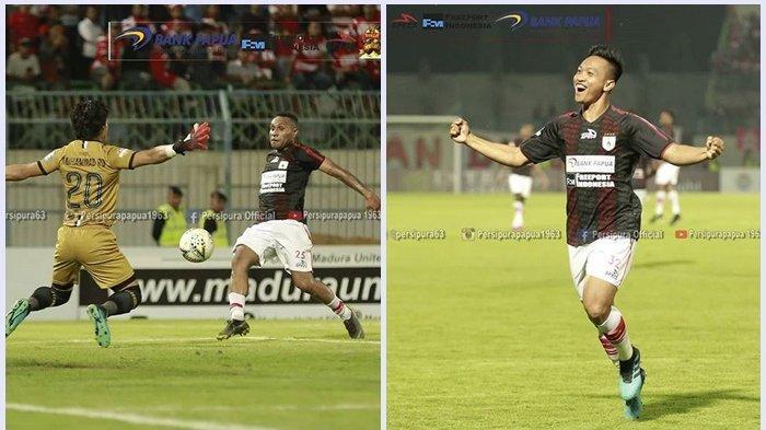 Hasil Akhir Madura United Vs Persipura 0-2, M Tahir dan Titus Bonai Antarkan Mutiara Hitam 3 Besar
