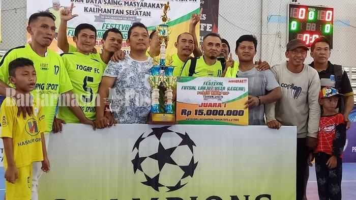 Juara Futsal Legenda Paman Birin Cup 2019, Togap FC Kalahkan Tim Diperkuat Pemain Barito Putera