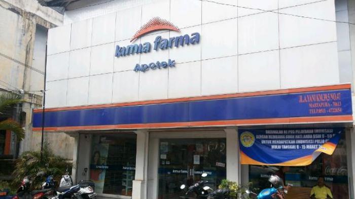 Toko obat Kimia Farma Martapura di Jalan A Yani Kilometer 39,5 Martapura yang dibobol pencuri dan membawa kabur brankas.