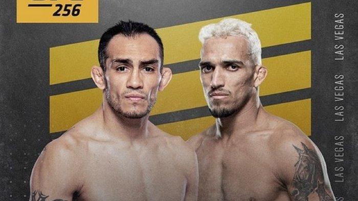 Poster duel Tony Ferguson vs Charles Oliveira di UFC 256 yang berlangsung Minggu (13/12/2020) WIB