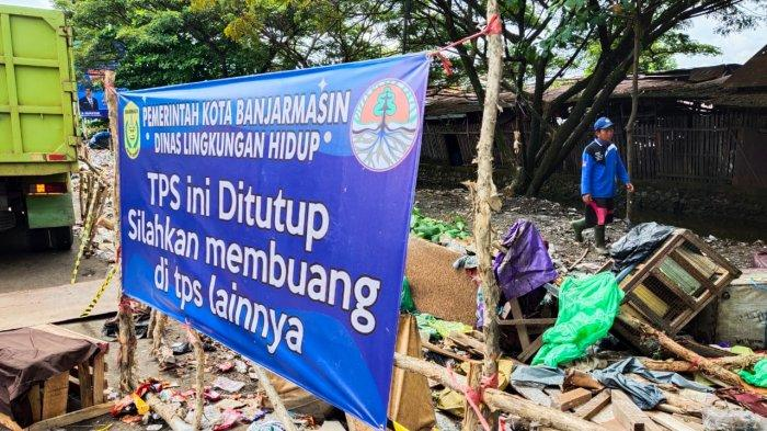 Sampah Meluber dan Mengganggu Arus Lalu Lintas, TPS di Tiga Lokasi di Banjarmasin Ditutup Permanen