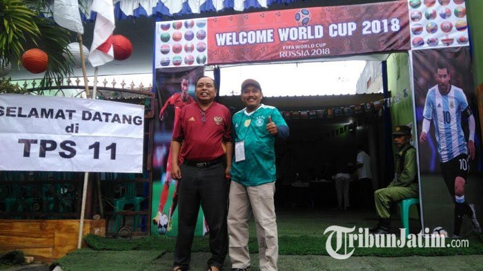 Haris Thofly Sulap TPS Jadi Suasana Ala Piala Dunia 2018, Ternyata Tujuannya Seperti Ini
