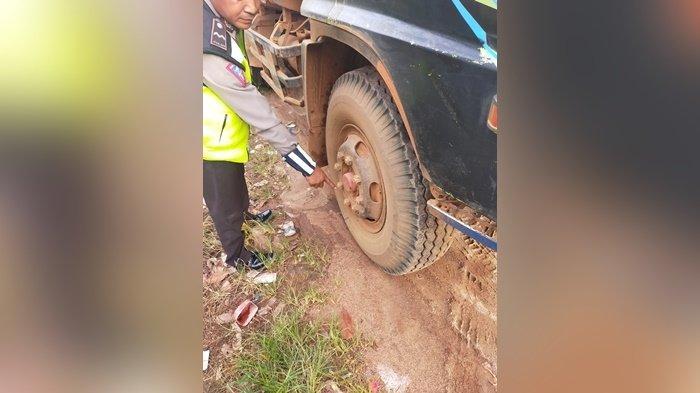 Motor Versus Truk di Simpang Sebabi Kabupaten Kotim, 1 OrangTewas