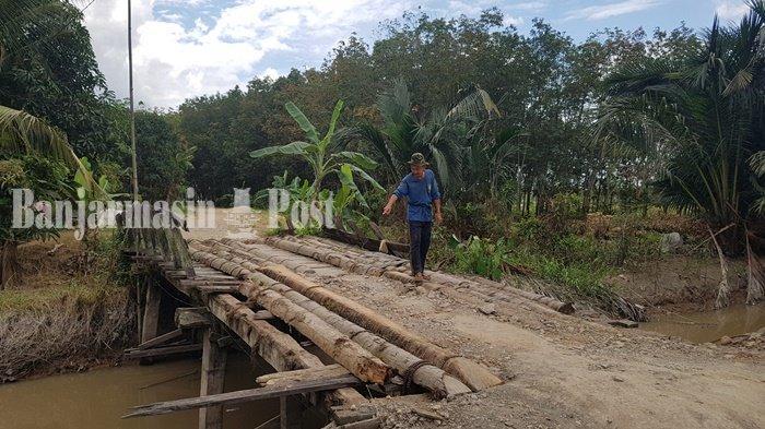 Tanggapan Bina Marga Kabupaten Tapin Mengenai Jembatan Rusak di Kumpai
