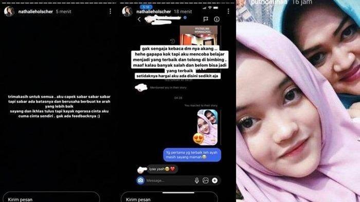 Unggahan Instagram Story Nathalie Holscher Tak Sengaja Baca DM Sule ke Putri Delina, Rabu (21/4/2021)