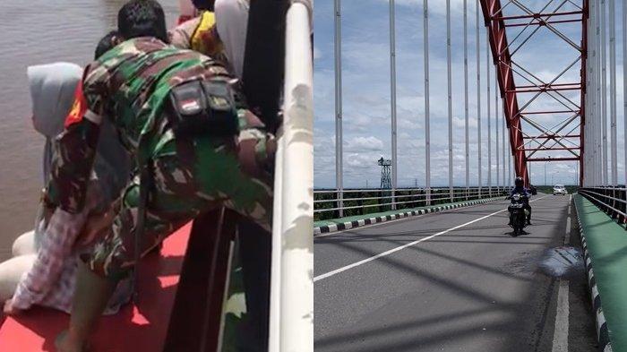 Nyaris Terjun dari Jembatan Rumpiang Batola Kalsel, Cewek 30 Tahun Ini Minta Pertanggungjawaban