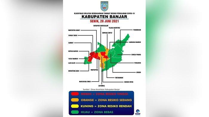 Update Covid-19 Kabupaten Banjar: 9 Kecamatan Zona Hijau