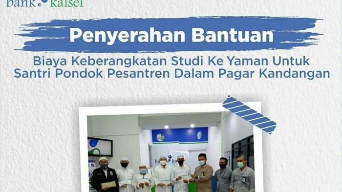 UPZ Bank Kalsel Bantu Biaya Studi Santri Pondok Pesantren Dalam Pagar Kandangan