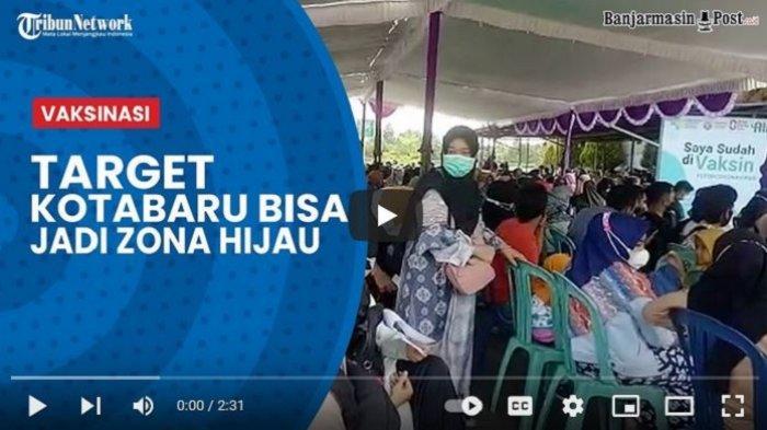 VIDEO Disuntik Vaksin Moderna, Warga Kotabaru Pulang Bawa Minyak Goreng