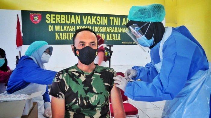 Vaksinasi Covid-19 di Kodim 1005 Marabahan, Sebanyak 262 Prajurit Divaksin Tahap Pertama