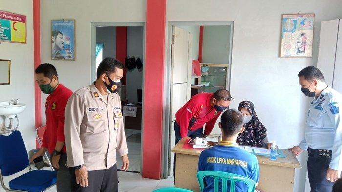 LPKA Martapura Kerja Sama dengan Dinkes Kabupaten Banjar Gelar Vaksinasi Covid-19
