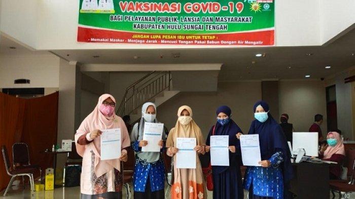 Siap Jalankan Belajar Tatap Muka, 300 Guru di Sekolah Percontohan HST Mulai Divaksinasi Covid-19