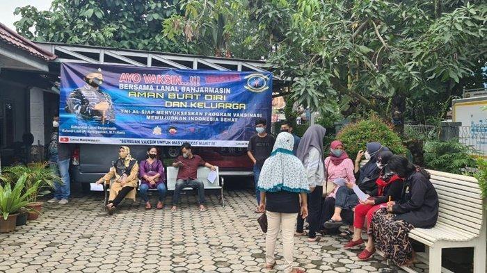 Balai Pengobatan TNI AL Lanal Banjarmasin Vaksinasi Remaja
