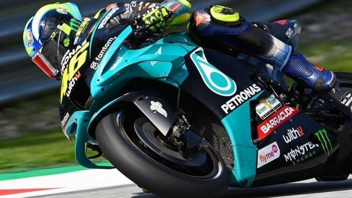 Valentino Rossi saat beraksi di kualifikasi MotoGP Styria 2021