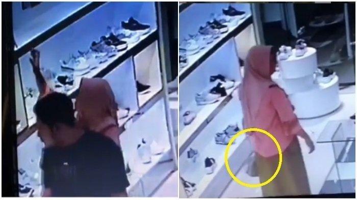 VIRAL Video Emak-emak Seperti Tak Berdosa Tenteng Tas dengan Pede, Ternyata Curi Tas dari Toko Ini