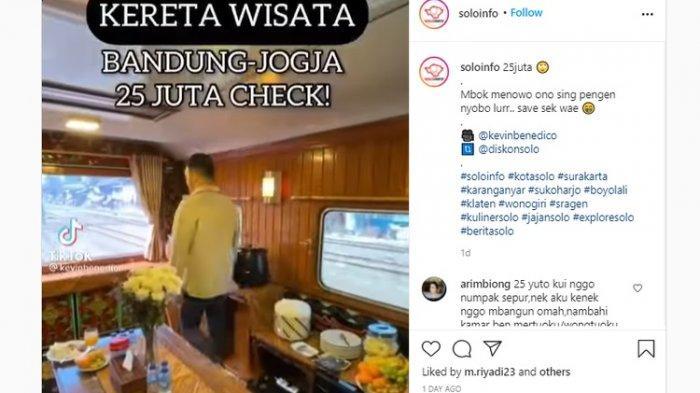 Viral Naik Kereta Bandung - Yogjakarta Rp 25 Juta, Humas Kereta Api Wisata Tak Menampik