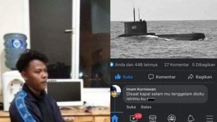 VIRAL Komentar Tak Senonoh Soal Istri Awak KRI Nanggala-402, Pria Ini Menangis Dijemput TNI