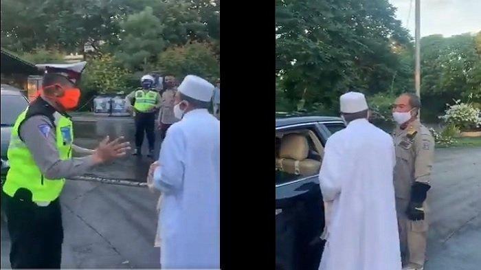 KRONOLOGI Video Habib Umar Assegaf Asal Bangil Cekcok dengan Petugas PSBB, Ucapan Kasar Sang Habib